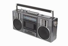 Vieux lecteur de cassettes par radio Image libre de droits