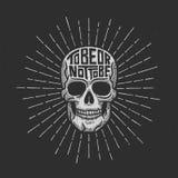 Rétro lettrage de crâne Images stock