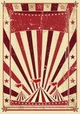 Rétro lettre crème de cirque illustration stock