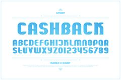 Rétro lettres et nombres d'alphabet de type vecteur, police d'ensemble illustration libre de droits