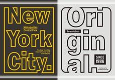 Rétro ligne graphique typographie pour le T-shirt, emblème, Photos stock