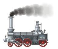 Rétro locomotive illustration de vecteur