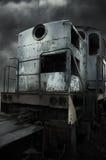 Rétro locomotive diesel photo stock