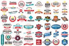 Rétro logo de vecteur de vintage pour la bannière illustration libre de droits