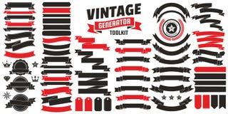 Rétro logo de vecteur de vintage pour la bannière