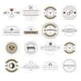 Rétro logo de vintage, signes d'affaires Marque le mécanisme, les insignes et les objets Voitures et camion illustration libre de droits
