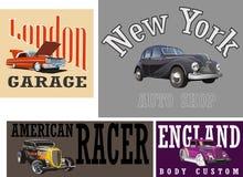 Rétro logo des véhicules à moteur de voiture Photographie stock libre de droits