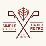 Rétro Logo Template simple Photographie stock libre de droits