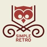 Rétro Logo Template simple Images libres de droits