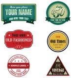 Rétro logos Photo libre de droits