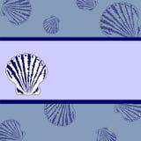 Rétro mémoires bleues de mer Image libre de droits