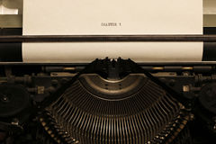 Rétro machine à écrire Images libres de droits