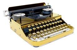 Rétro machine à écrire sur le fond blanc Photographie stock