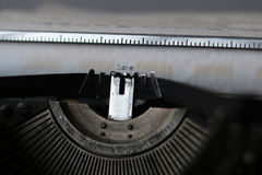 Rétro macro de machine à écrire Photos stock