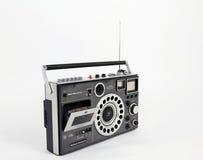 Rétro magnétophone avec la radio Photo libre de droits