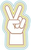 Rétro main de paix Photo libre de droits