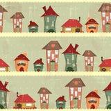 Rétro maisons - Noël sans joint illustration libre de droits