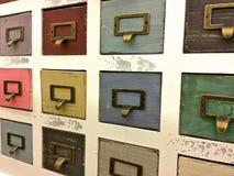 Rétro meuble d'archivage photo libre de droits