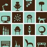 Rétro meubles illustration stock