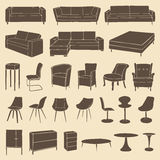 Rétro meubles illustration de vecteur