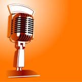 Rétro microphone Photographie stock