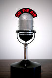 Rétro microphone Photos libres de droits