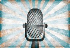 Rétro microphone Photos stock