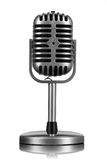 Rétro microphone d'isolement Images stock