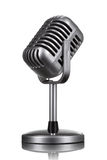 Rétro microphone d'isolement Image stock