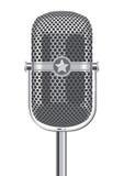 Rétro microphone métallique Photos stock