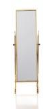 Rétro miroir en laiton d'étage Photo libre de droits