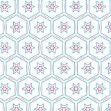 Rétro modèle d'Art Colors Star Geometric Hexagonal de bruit illustration stock