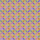 Rétro modèle de cercle géométrique sans couture illustration stock