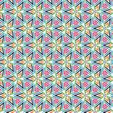 Rétro modèle de flèches d'Art Colors Triangle Stars Geometric de bruit Photos stock