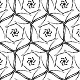 Rétro modèle de sacrum primitifs de geometria avec des lignes et des cercles Photographie stock libre de droits