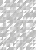 Rétro modèle de triangle dans le vecteur gris et blanc, sans couture Images stock