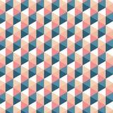 Rétro modèle de triangle Fond de vecteur Texture abstraite géométrique Photo libre de droits