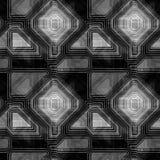 Rétro modèle noir et blanc sans couture abstrait avec des courbes de niveau illustration libre de droits