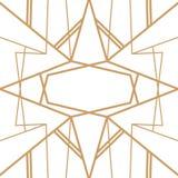 Rétro modèle, partie de cru Grande bannière ou carte postale de style de Gatsby illustration libre de droits