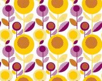rétro modèle 60s floral style décoratif de la géométrie Photos libres de droits