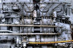 Rétro moteur diesel de Gardner Photos stock