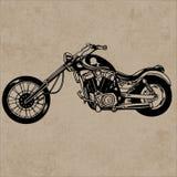 Rétro moto, moto de vintage Image stock