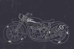 Rétro moto, moto tirée par la main Photo libre de droits