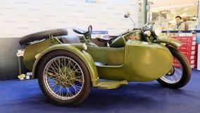 Rétro motorcyle de trois militaires de roues Photo stock