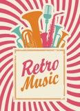 Rétro musique illustration de vecteur