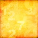 Rétro nombres de type Photos libres de droits