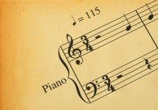 Rétro note de musique Images libres de droits