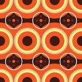 Rétro orange d'années '60 Photographie stock