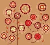 Rétro ornement floral Photos libres de droits