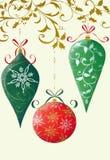 Rétro ornements de Noël photos libres de droits